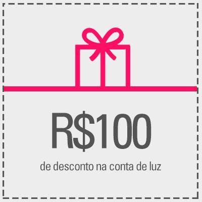 Resgate R$100,00 de desconto na sua conta de luz