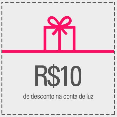 Resgate R$10,00 de desconto na sua conta de luz