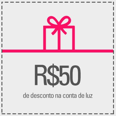 Resgate R$50,00 de desconto na sua conta de luz