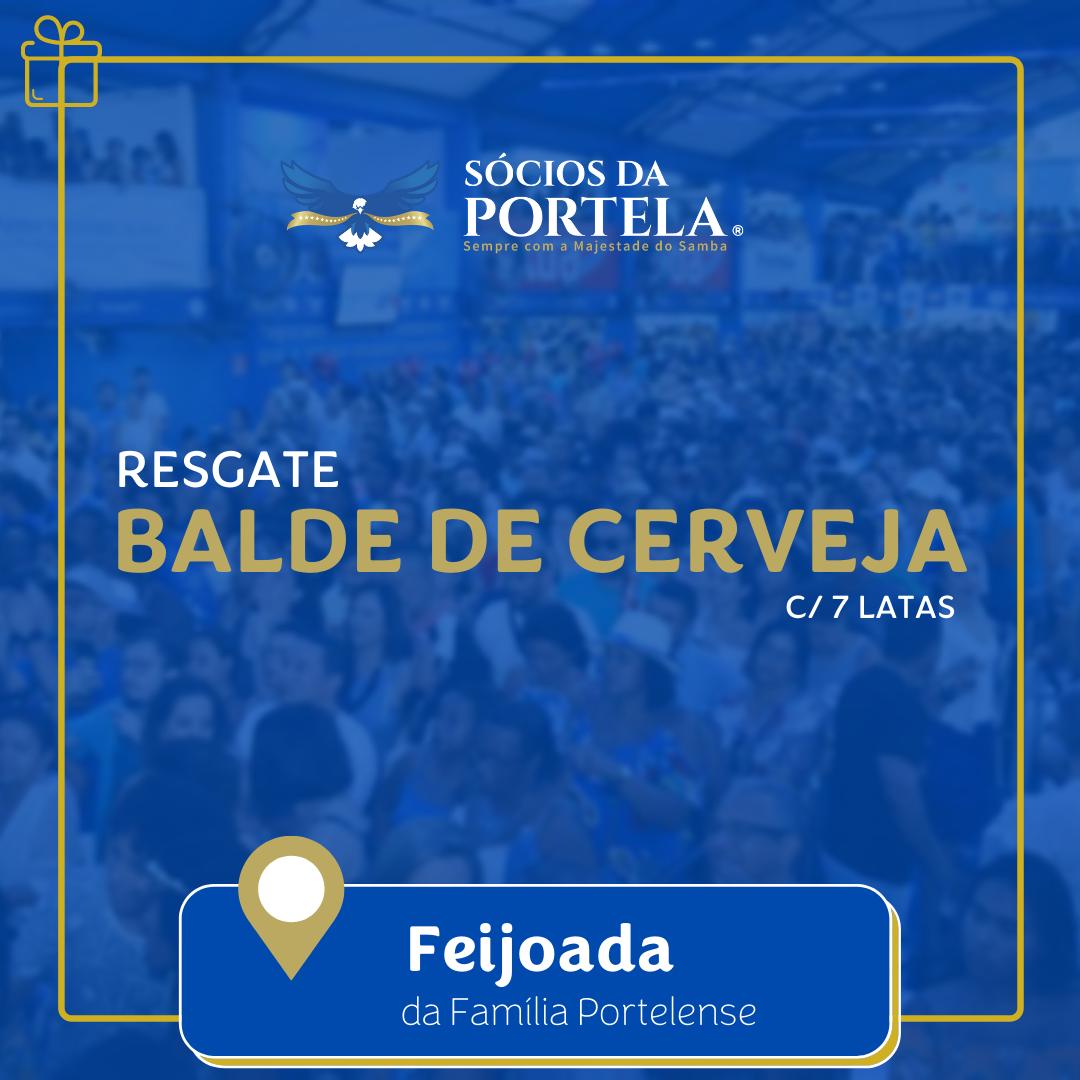 Balde de Cerveja - Feijoada da Família Portelense - Edição Dez/20